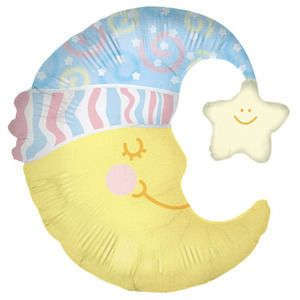 36 Slumber Moon Balloon Baby Shower Party Supplies