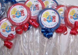 30 Baby Shower Birthday Baby Elmo Cookie Monster Big Bird Chocolate