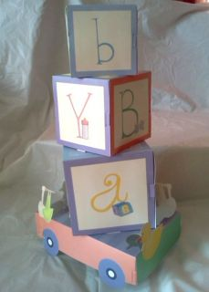 Blocks Boy Girl Baby Shower Party Supplies Decorations