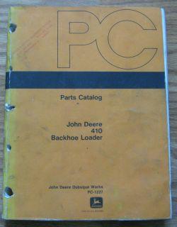 John Deere 410 Backhoe Tractor Loader Parts Catalog Manual JD PC1227