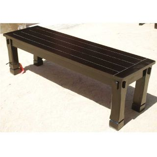 Solid Wood Entry Hall Patio Backless Bench Garden Outdoor Furniture