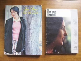 Signed Lot 2X Joan Baez Songbook and Then I Wrote Art Lyrics Music