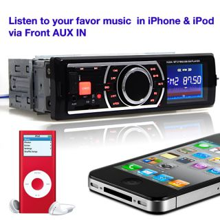 Receiver Remote in Dash Car Stereo Radio Player for iPod iPhone