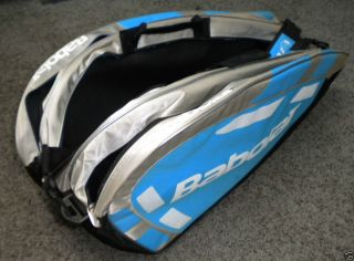 BABOLAT Team 12 Pack Tennis Racquet Holder Bag Case black blue white
