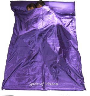 Double Purple Silk Liner Sack Sleeping Bag Liner Hostel