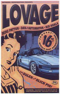 Lovage Mike Patton Kid Koala Boston Concert Poster 2001