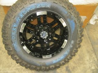NEW MICKEY THOMPSON BAJA MTZ 33x12 50x17 W NEW MOTO METAL BLACK WHEEL