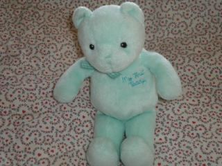 Baby Gund 8 Babys First Teddy Mint Green Bear Plush Boy Girl Lovey