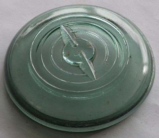 green glass lid for ball ideal