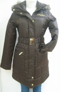 New Baby Phat Quilted Coat Jacket Brown 2XLarge NWT 1342BP