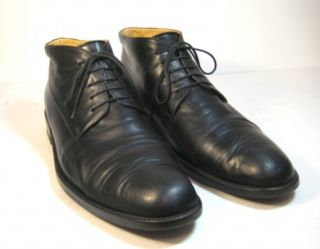 BALLY Seltis Mens Leather Ankle Boots Size 11.5 MADE IN ITALY