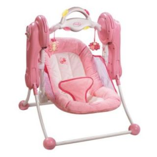 EEUC Pink Baby Swing Girl Summer Quiet Comfort Travel Very Nice
