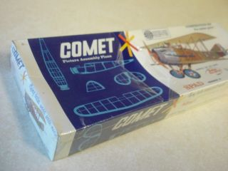 Comet Spad Balsa Wood Scale Model Airplane Kit SEALED
