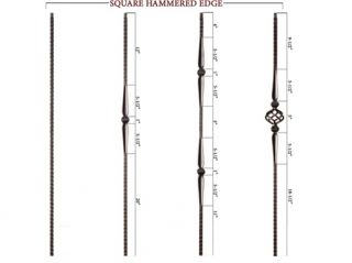 wrought iron balusters hammered italian