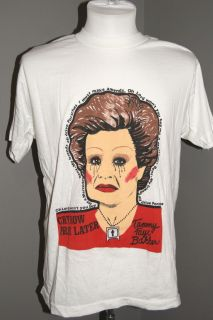 RARE Vintage 80s Tammy Faye Bakker Scandal Janis Joplin Lyric Graphic