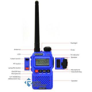 Blue BAOFENG Dual Band Radio Mini Radio Rainproof Mic 41 29K