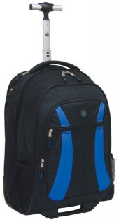 Travelers Club Luggage Rolling Backpack with Side Laptop Pocket   TSA