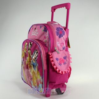 Crown 12 Toddler Small Rolling Backpack Roller Wheeled Girls