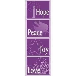 Banner Hope Peace Joy Love 24 x 72 Church Banner