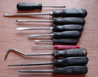 Snap on Screwdrivers Awls Pick 10 Pieces