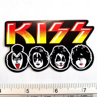 Kiss Band Car Sticker Decal Black Non Reflective Light 1.75x3.25