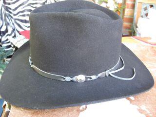 Bailey Tucson Black Sz large, Mans Hat, Western,Cowboy, Mint