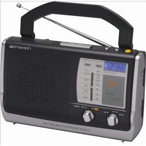 Emerson RP6251 Portable Clock Weather Band Radio