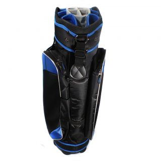 RJ Sports Bandon ll Black Blue Golf Cart Bag 14 Way Full Length