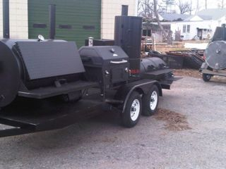 Custom Rotisserie Competition BBQ Trailer Barbecue Smoker