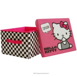 Hello Kitty Bows Storage Toy Clothes Box Bed Room Tidy