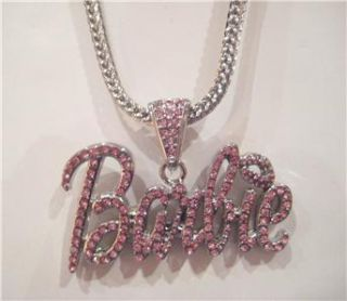 Iced Out Nicki Minaj Barbie Pendant Necklace Hip Hop P