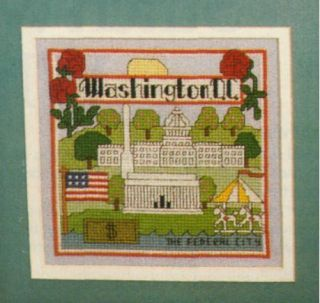 Washington D C Counted Cross Stitch Pattern from old Magazine