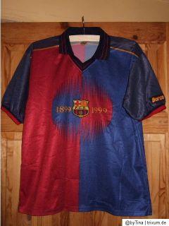 Barcelona 1899 1999 Official Barca Soccer No 11 Rivaldo Jersey Men
