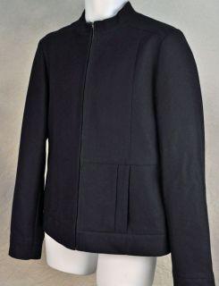HUGO BOSS RED LABEL Wool Jacket Barak Zip Front Lined Black EUC Mens
