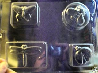 Asst Garden Bug Bar Chocolate Candy Soap Mold Molds
