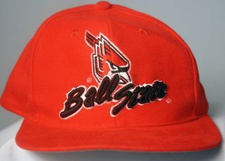 Single Ball State Cardinals NCAA Officially Licensed Hat Cap Red Snap
