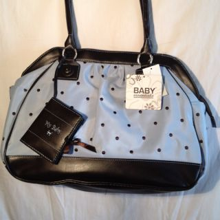 NEW Baby Essentials Baby Diaper Tote Shoulder Bag w Changing Pad and