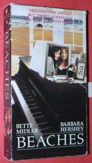 Beaches VHS Bette Midler Barbara Hershey John Heard