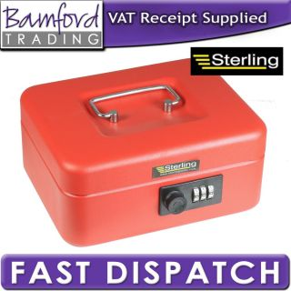 Bamford Trading   New Sterling Red Combination Lock Steel Petty Cash