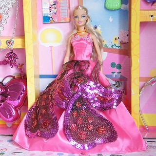 Princess Fashion Party Barbie Clothes Gown Dress For Barbie Doll Gift