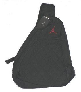 Nike Jordan Sling Backpack Book Bag New Black Back Pack