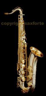 Rampone Cazzani R1 Jazz Silver Gold Plated Tenor Saxophone Sax