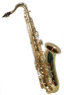 New Brass Tenor Saxophone Sax w 5 Years Warranty