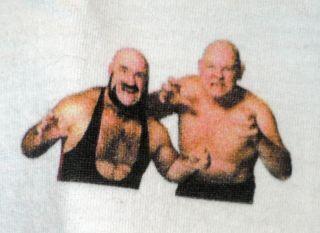 AWA Wrestling Mad Dog Vachon Baron Von Raschke Raglan Jersey Shirt XL