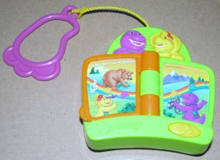 Barney Purple Dinosaur BJ Musical Mattel Clip on Book Radio 2002 Toy