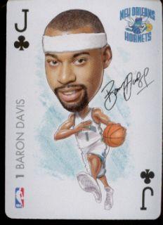 Baron Davis New Orleans Hornets NBA Playing Card 2004 Big Head