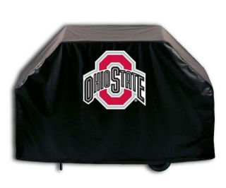 Buckeyes Black Vinyl Barbecue Grill Cover 2 Sizes Available