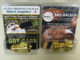Propane Tank Refill Adaptor BBQ Grill Backup Combo Pack for Home or