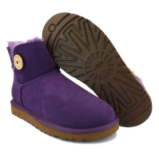 UGG Australia Mini Bailey Button Womens Boots Boysenberry Bysb 3352