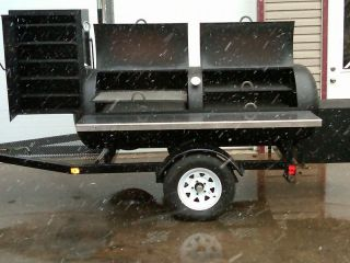 BBQ Pit Smoker Trailer Catering Competition Excellent